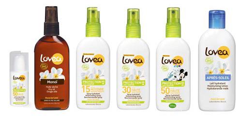 Natuurlijke zonbescherming van Lovea