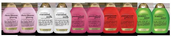 Probeer nu zelf 1 van de 5 Organix Shampoos